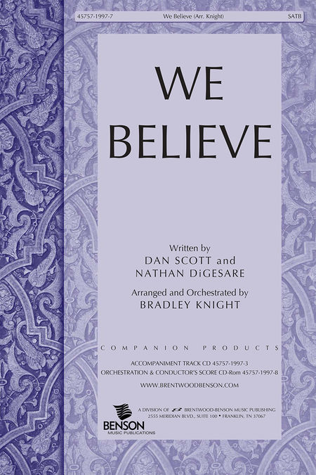 We Believe (Split Track Accompaniment CD)