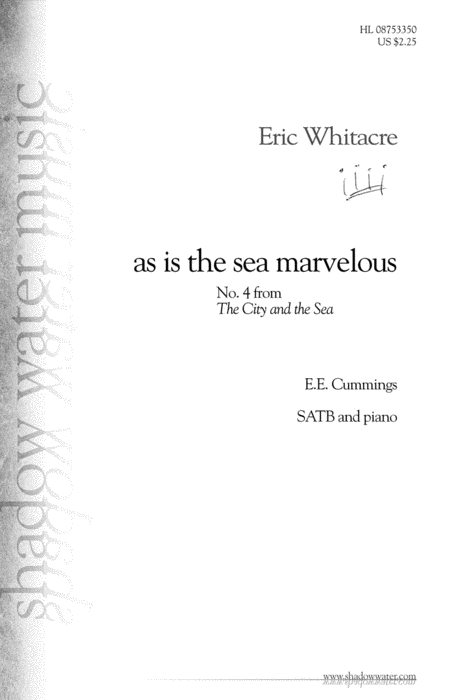 as is the sea marvelous