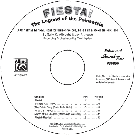 Fiesta! The Legend of the Poinsettia - SoundTrax CD (CD only)
