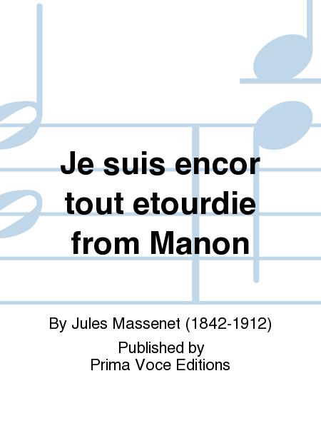 Je suis encor tout etourdie from Manon