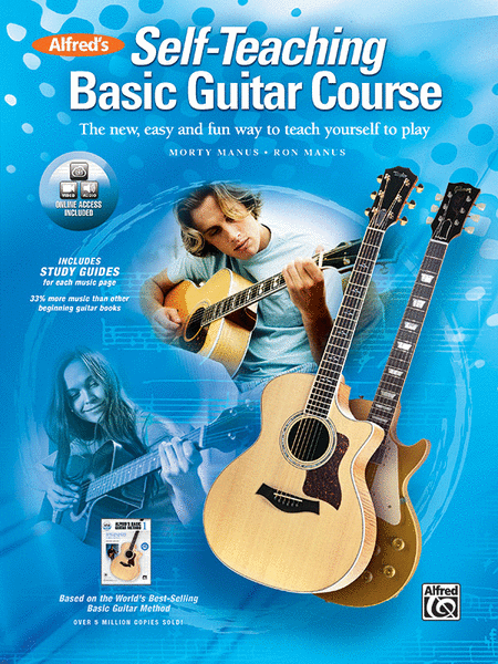 alfred 39 s self teaching basic guitar course sheet music by morty manus and ron manus sheet. Black Bedroom Furniture Sets. Home Design Ideas