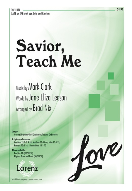 Savior, Teach Me