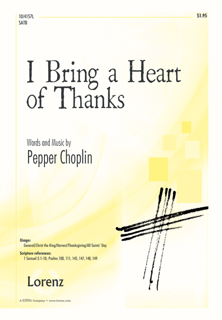 I Bring a Heart of Thanks