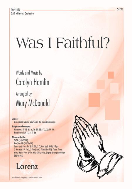 Was I Faithful?