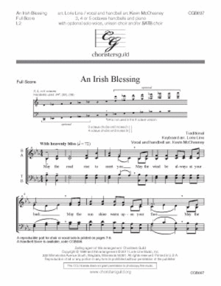 An Irish Blessing - Full Score and Vocal Parts