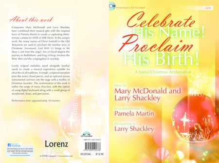Celebrate His Name! Proclaim His Birth! - SATB Score with CD