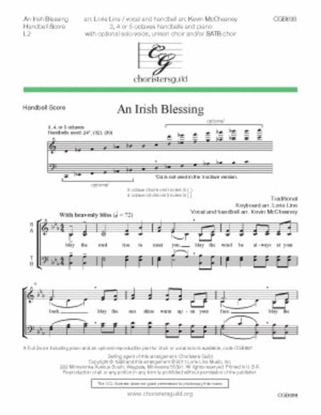 An Irish Blessing - Handbell Score