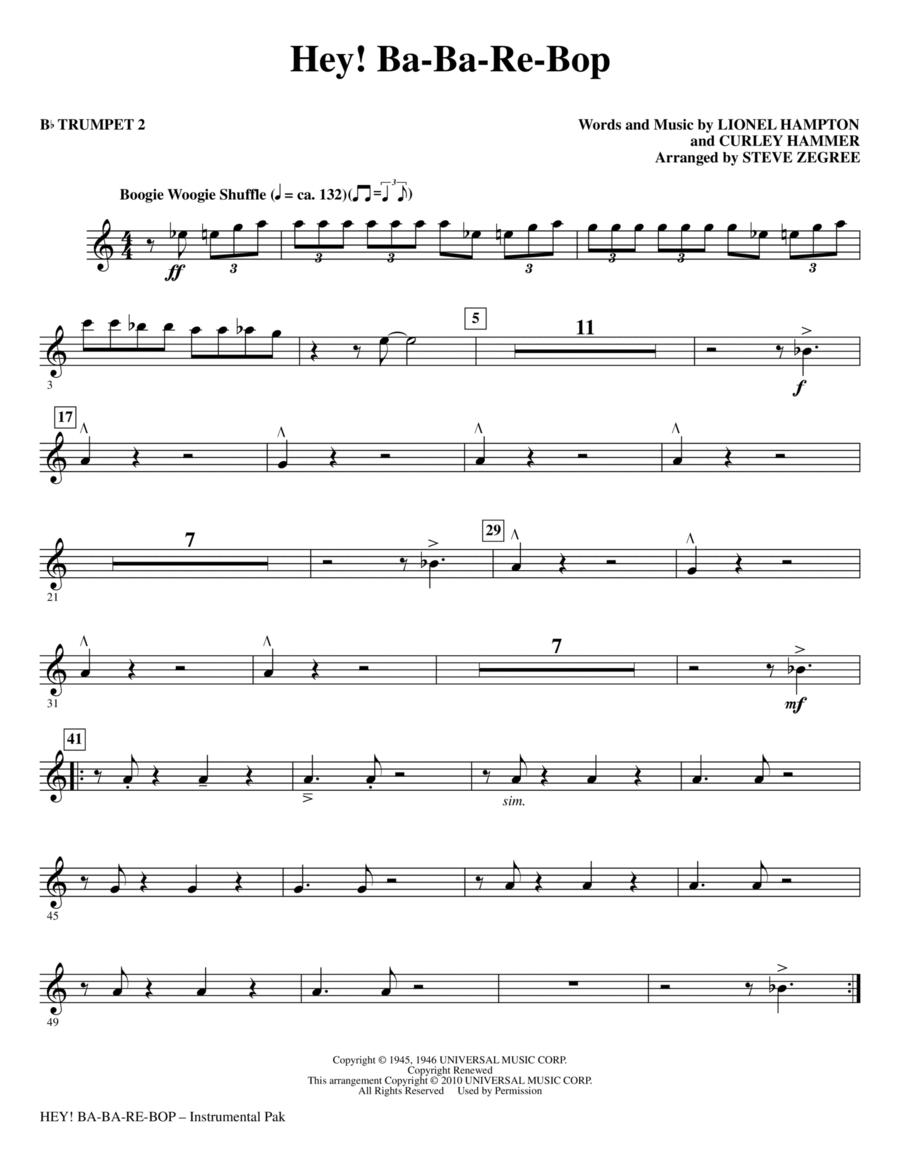 Hey! Ba-Ba-Re-Bop - Bb Trumpet 2
