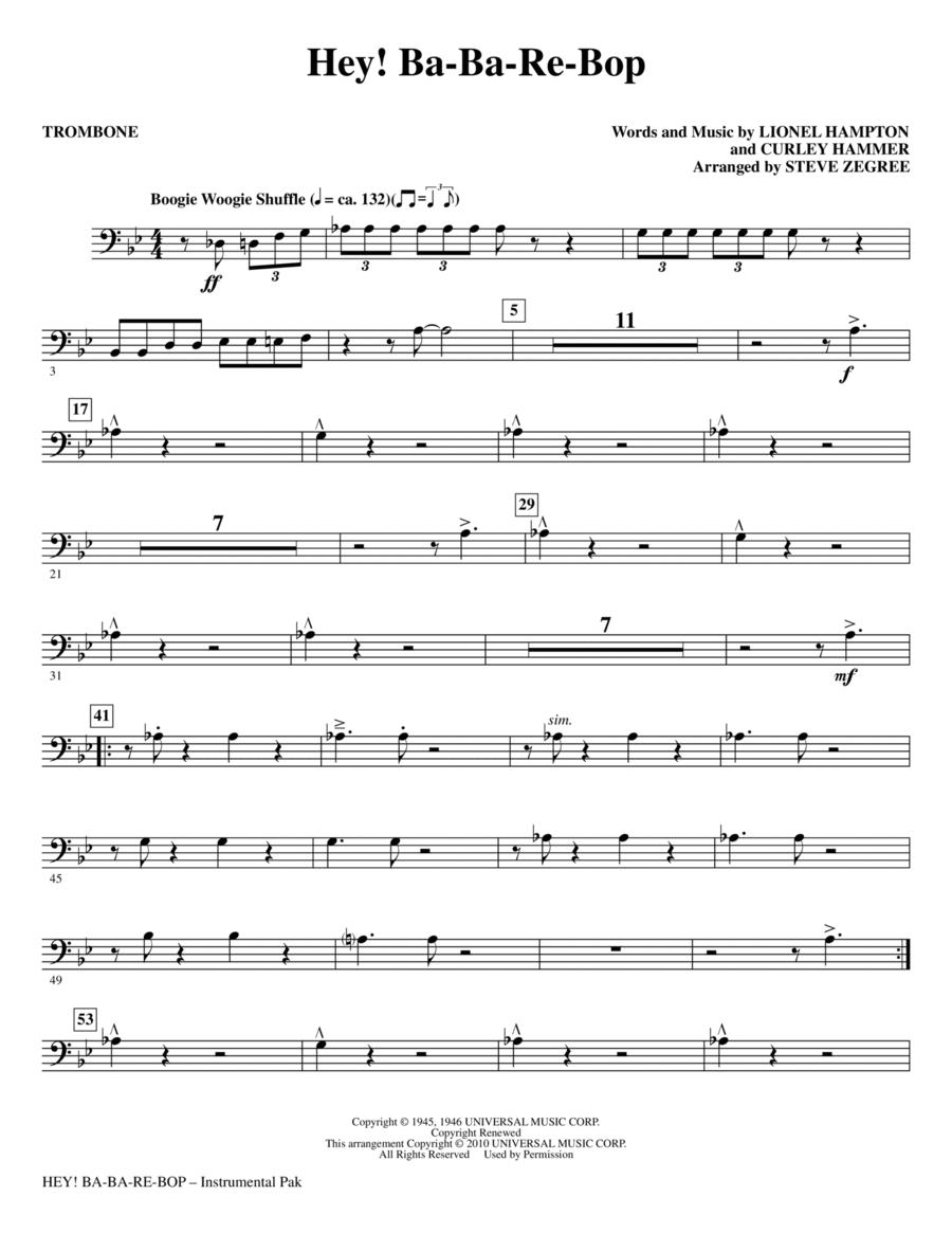 Hey! Ba-Ba-Re-Bop - Trombone