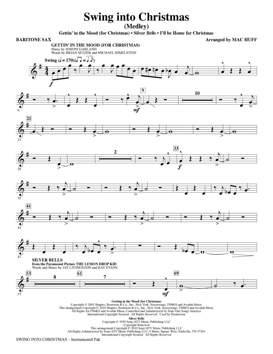 Swing Into Christmas (Medley) - Baritone Saxophone