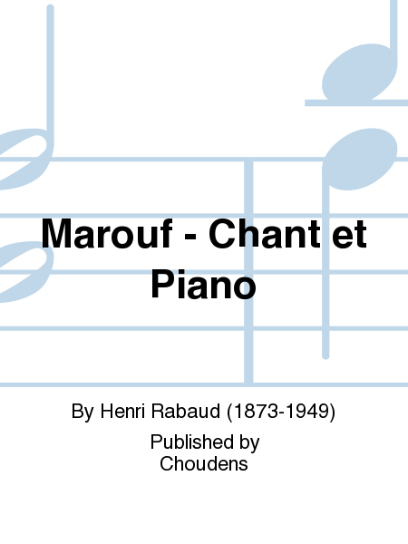 Marouf - Chant et Piano