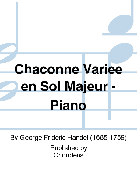 Chaconne Variee en Sol Majeur - Piano