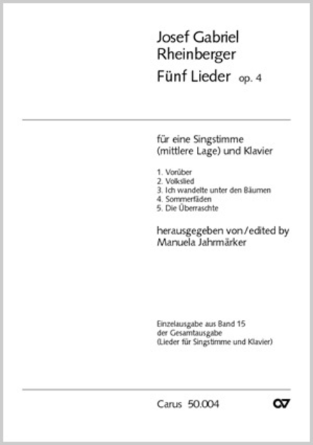 Funf Lieder op. 4