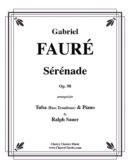 Serenade, Op. 98 for Tuba or Bass Trombone & Piano