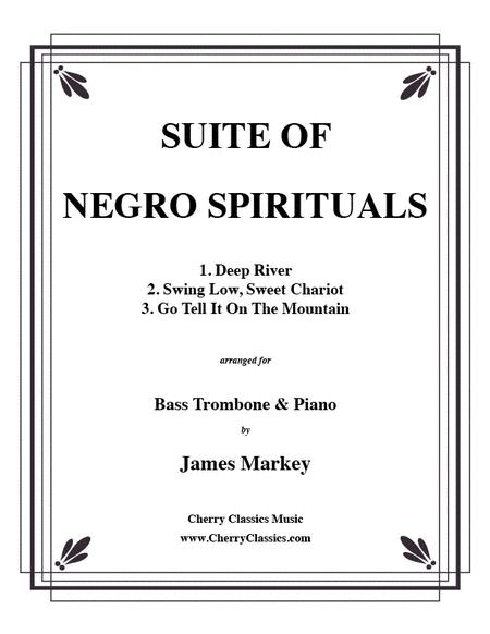 Three Negro Spirituals for Bass Trombone & Piano