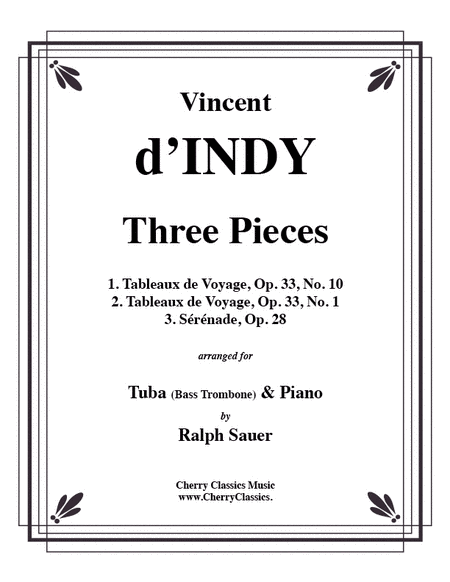 Three Pieces for Tuba or Bass Trombone & Piano