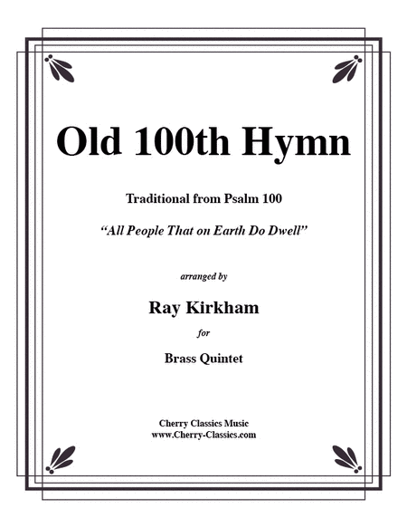 Old 100th Hymn for Brass Quintet