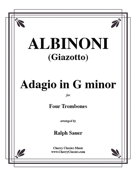 Adagio in G minor for Four Trombones