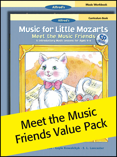 Music for Little Mozarts Meet the Music Friends (Value Pack)