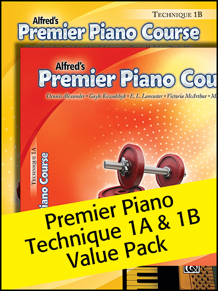 Alfred's Premier Piano Course Technique 1A & 1B Value Pack