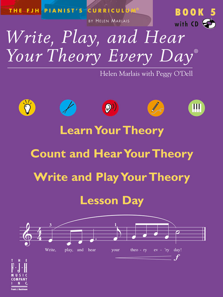 Write, Play, and Hear Your Theory Every Day Book 5 (with CD)