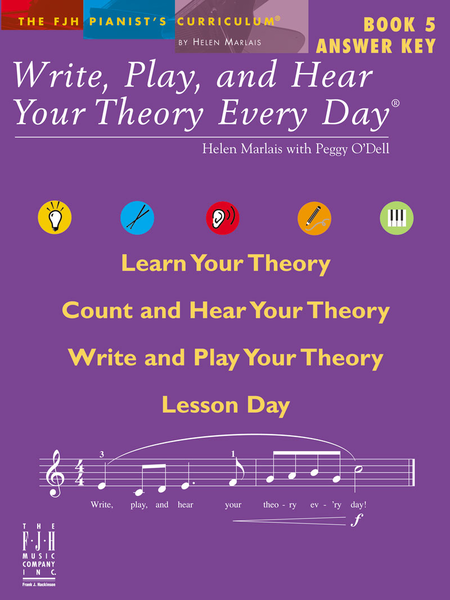 Write, Play, and Hear Your Theory Every Day Book 5 Answer Key