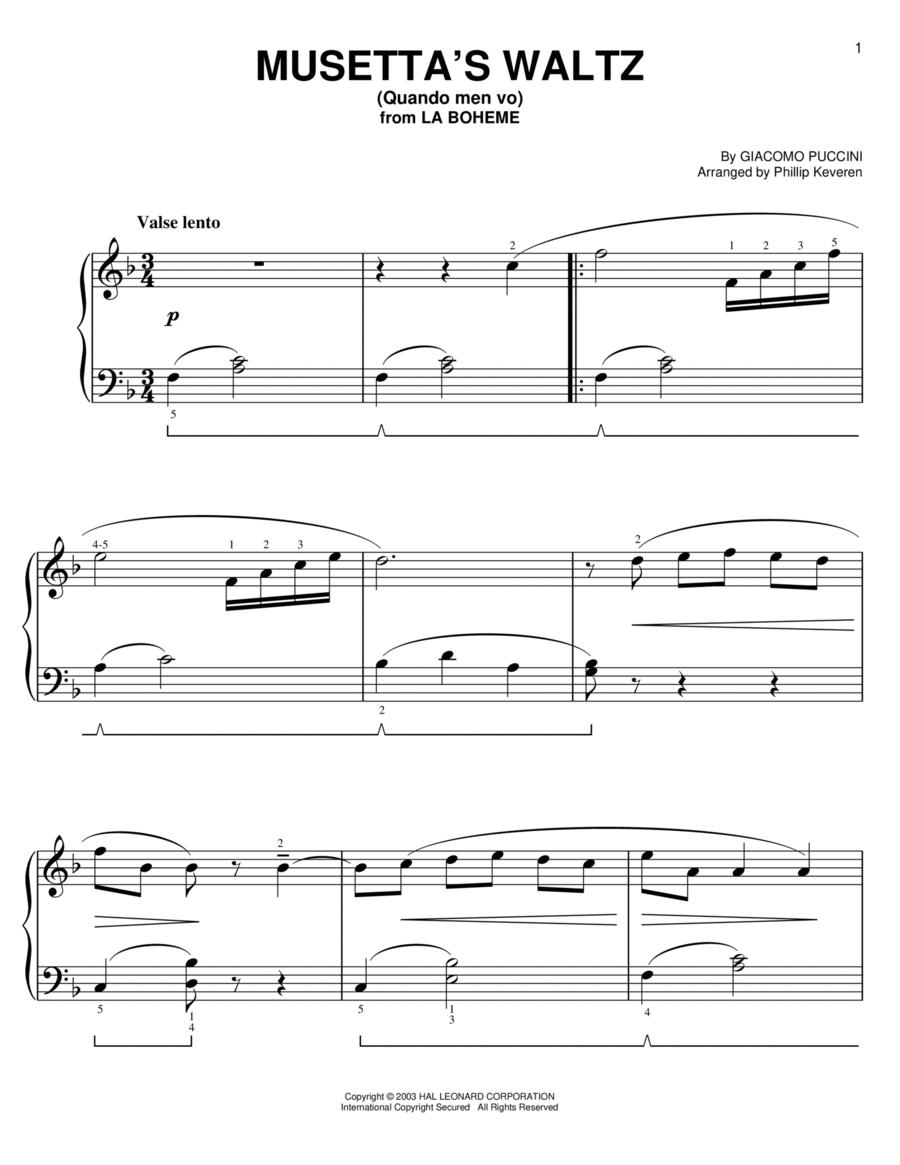 Musetta's Waltz (Quando Men Vo)