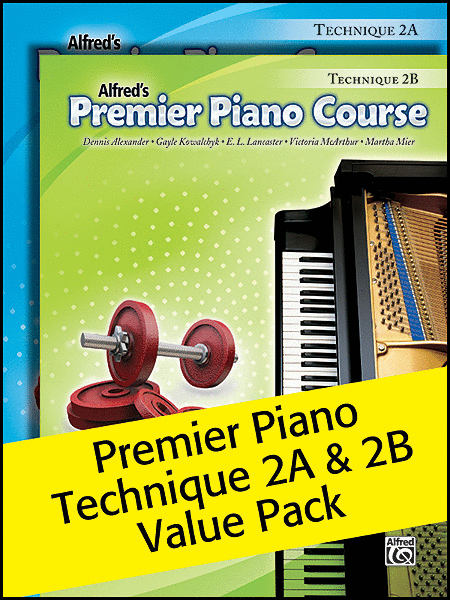 Alfred's Premier Piano Course Technique 2A & 2B Value Pack