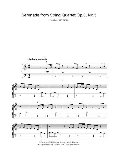 Serenade For Strings Op. 3 No. 5