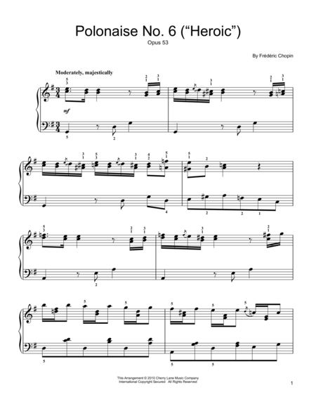 Polonaise No. 6, Op. 53