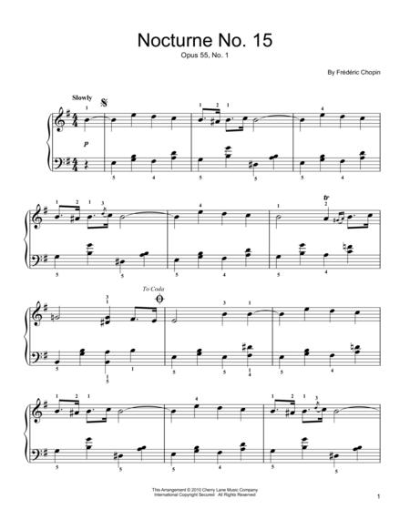 Nocturne  Op. 15, No. 1