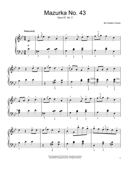 Mazurka  Op. 67, No. 2