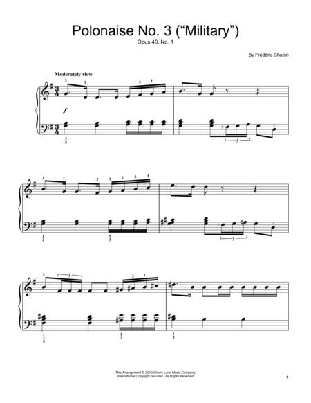 Polonaise  Op. 40, No. 1