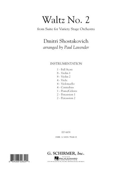 Waltz No. 2 - Conductor Score (Full Score)