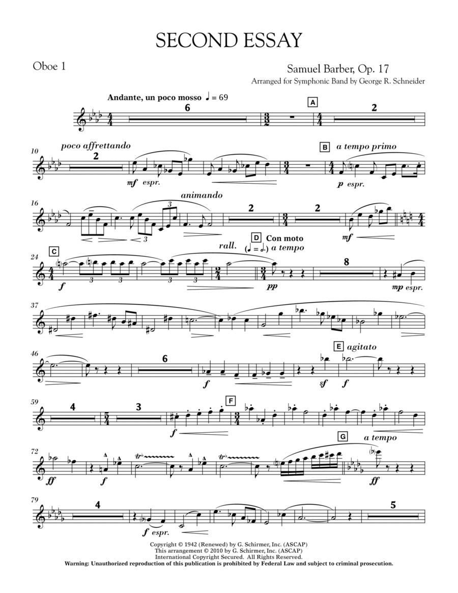 Second Essay - Oboe 1