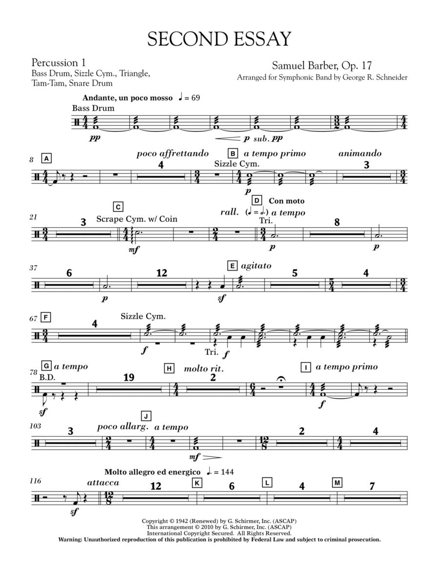 Second Essay - Percussion 2