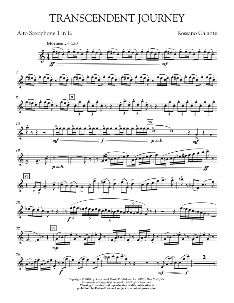 Transcendent Journey - Eb Alto Saxophone 1