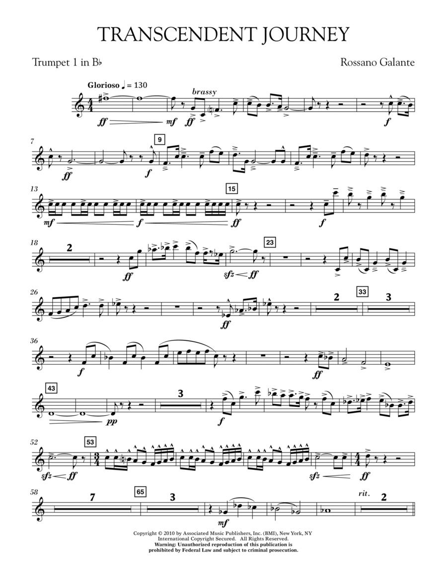 Transcendent Journey - Bb Trumpet 1