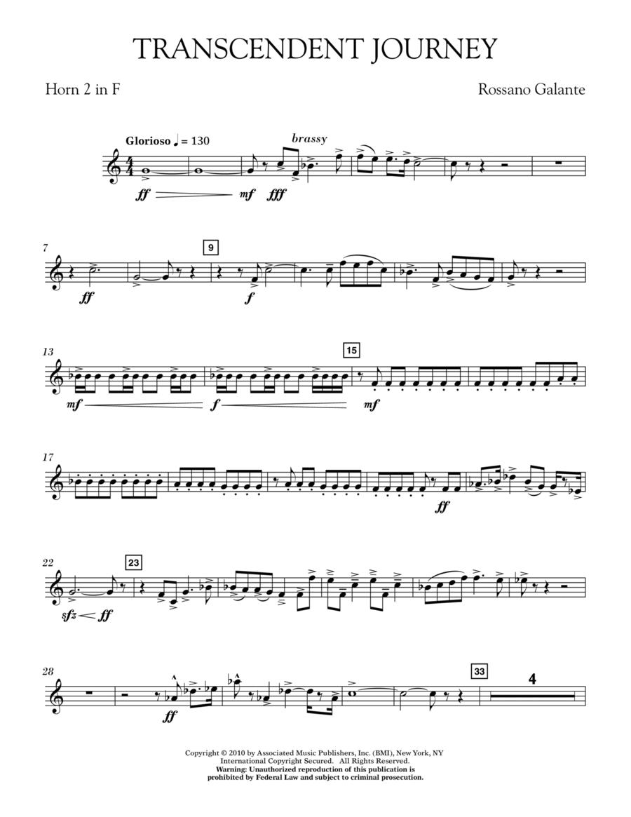 Transcendent Journey - Horn 2 in F