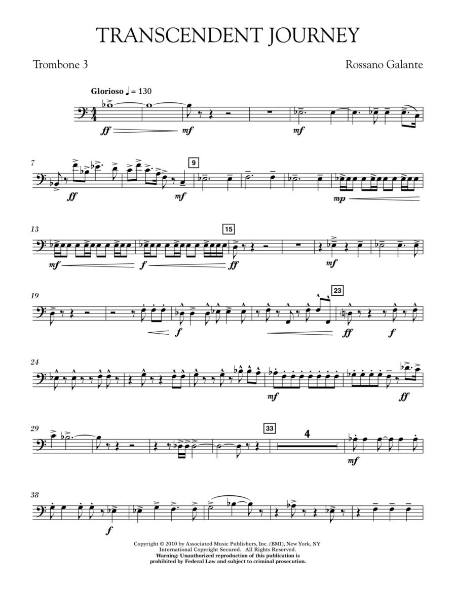 Transcendent Journey - Trombone 3