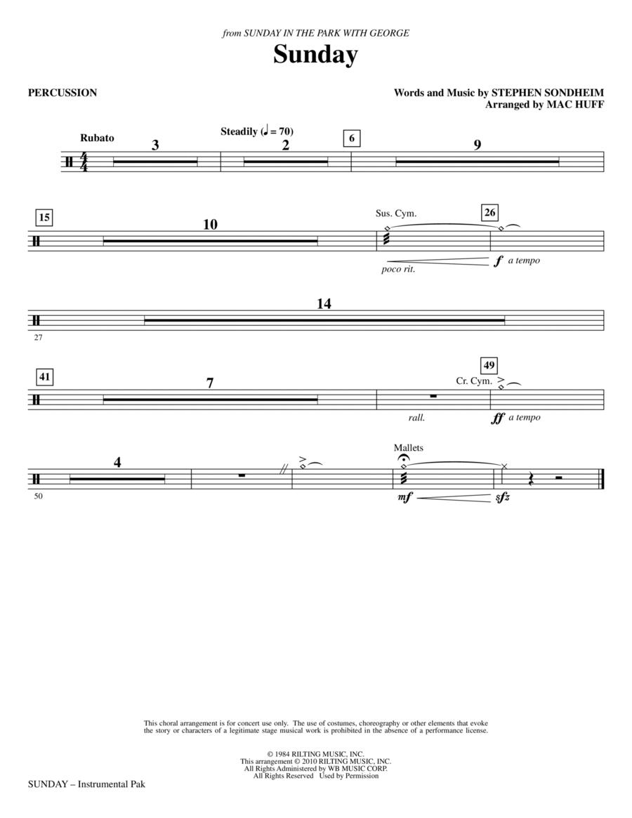 Sunday - Percussion