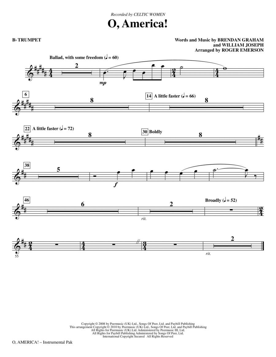O, America - Bb Trumpet