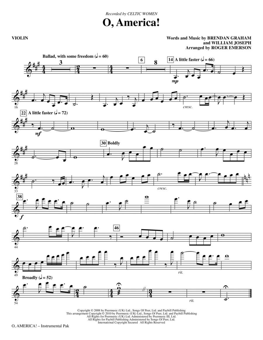 O, America - Violin