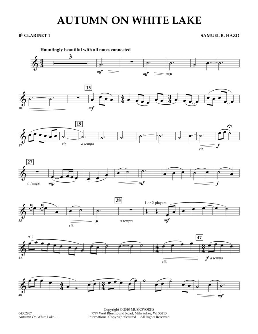 Autumn On White Lake - Bb Clarinet 1