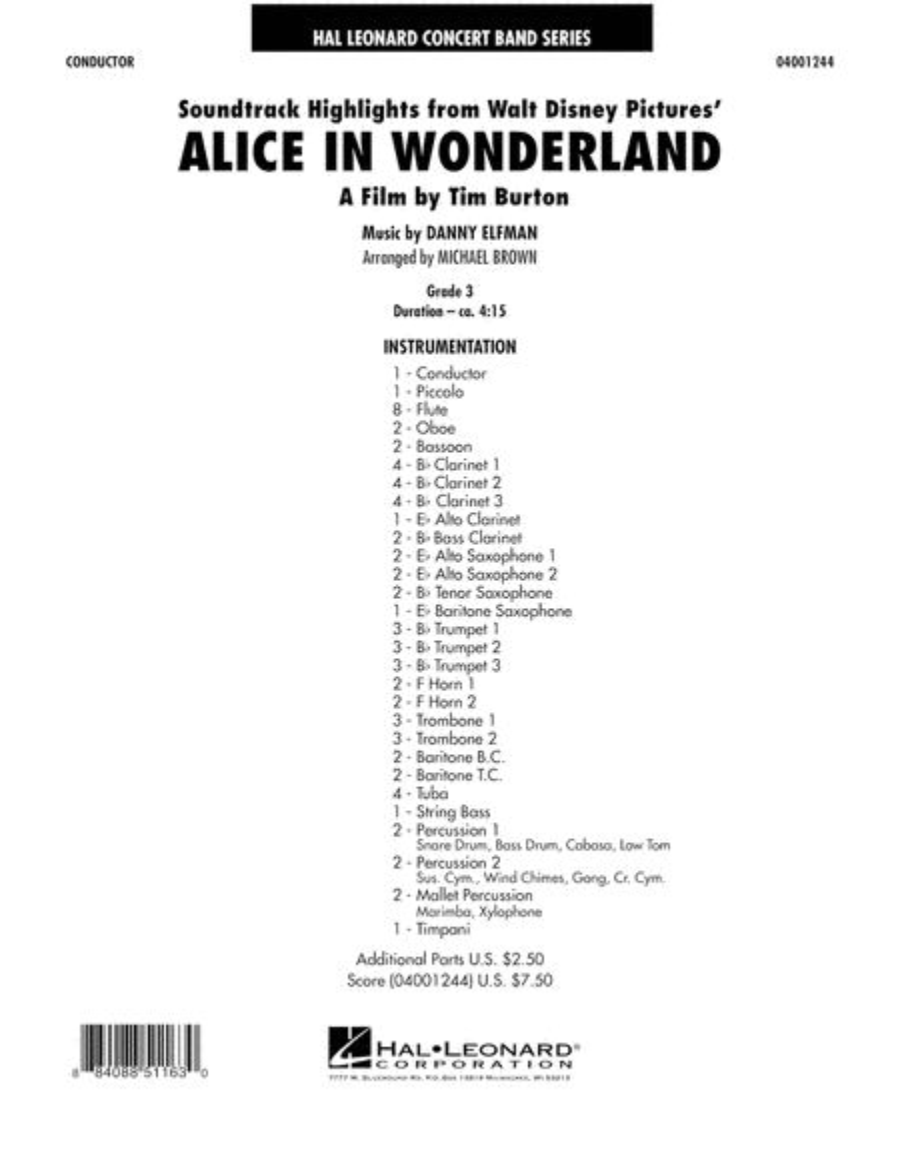 Alice In Wonderland, Soundtrack Highlights - Full Score