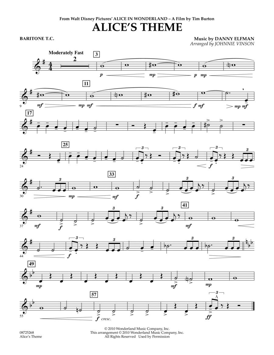 Alice's Theme (from Alice In Wonderland) - Baritone T.C.