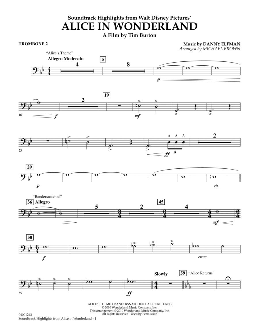 Alice In Wonderland, Soundtrack Highlights - Trombone 2