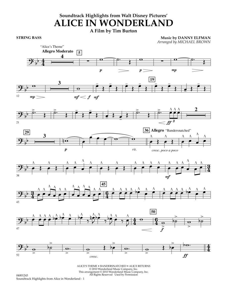Alice In Wonderland, Soundtrack Highlights - String Bass