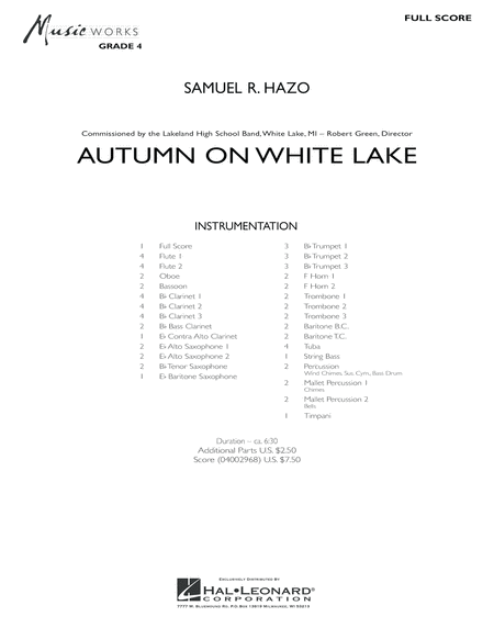 Autumn On White Lake - Conductor Score (Full Score)