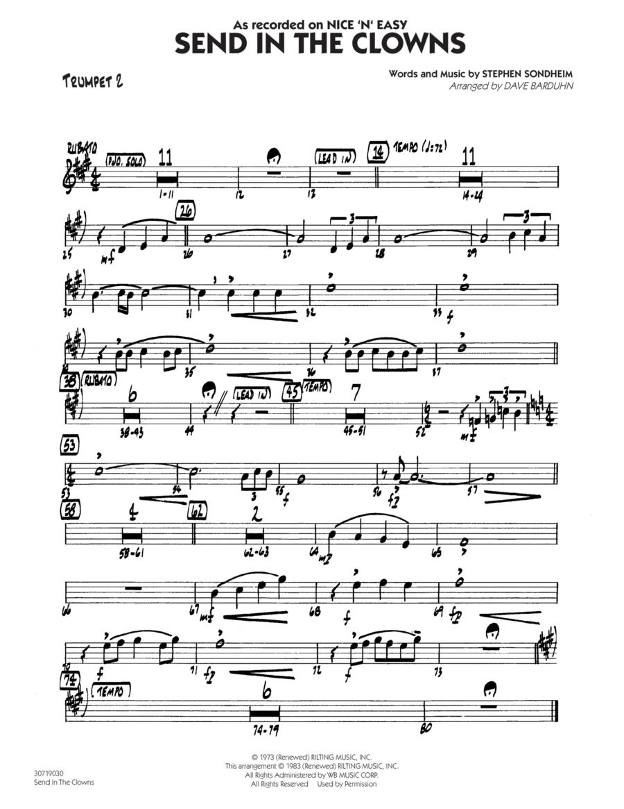Send In The Clowns - Trumpet 2